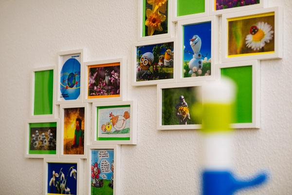 Bild von mehreren Wandbildern des Autismuszentrum Herten im Ruhrgebiet.