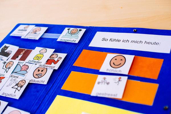 Hier sehen Sie Karten mit Gefühlen zum zuordnen für den aktuellen Tag.